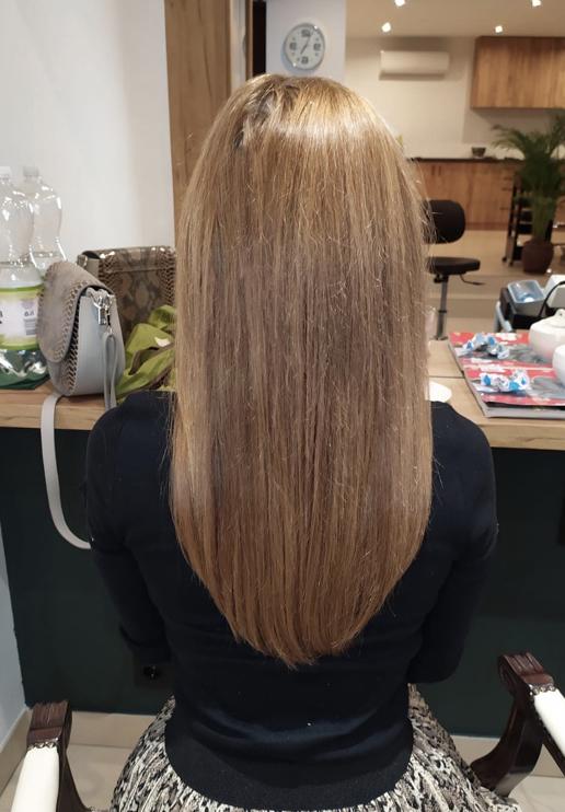 włosy brąż przedłużone