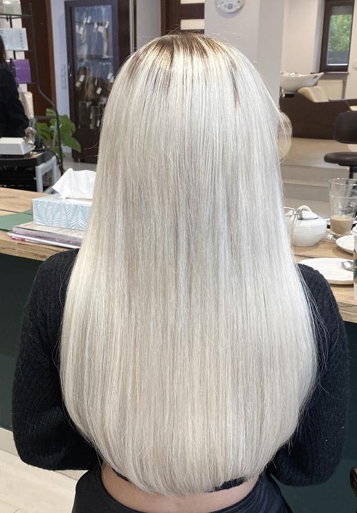 włosy bląd przedłużone